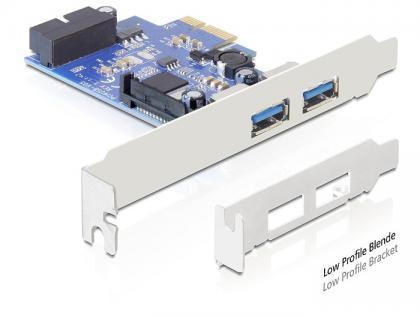 Schnittstellenkarte PCI Express, 2 x USB 3.0 Port, Delock® [89315]