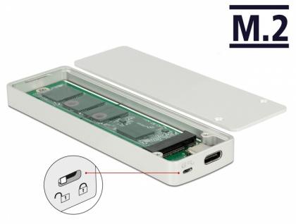 Externes Gehäuse M.2 Key B 42/60/80 mm SSD > USB Type-C™ 3.1 Gen 2 Buchse mit Schreibschutz, Delock® [42599]