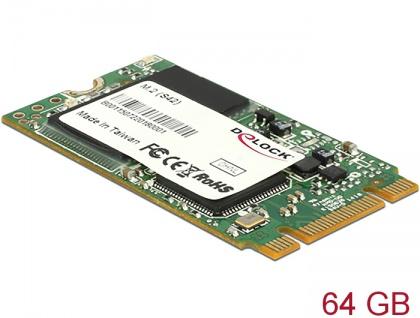 M.2 SATA 6 Gb/s SSD Industrial 64 GB (S42) Toshiba MLC, Delock® [54791]