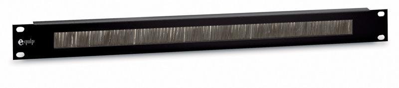 Equip® Kabeldurchführungspanel 19' Schränke, inkl. Bürsteneinsatz, 1 HE, RAL 9005 (Schwarz)