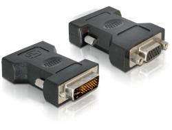 Adapter, VGA 15pin Buchse an DVI 24+5 Stecker, Delock® [65016]