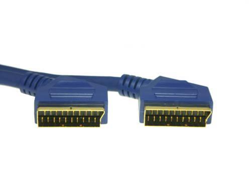 Anschlusskabel Scart Stecker an Stecker, High Quality, 3m, Good Connections®