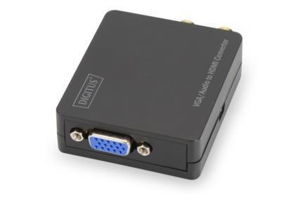 VGA zu HDMI Konverter inkl. Audioübertragung, Digitus® [DS-40130-1] - Vorschau