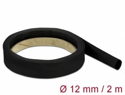 Schrumpfschlauch 2 m x 12 mm schwarz, Delock® [18982]