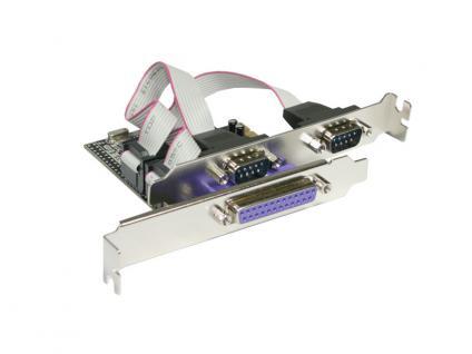 Longshine® LCS-6322M PCI Express Karte 2x seriell, 1x parallel