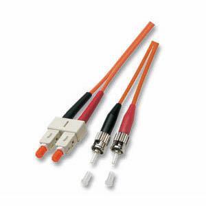 kabelmeister® Patchkabel LWL Duplex OS2 (Singlemode, 9/125) ST/SC, gelb, 7, 5m