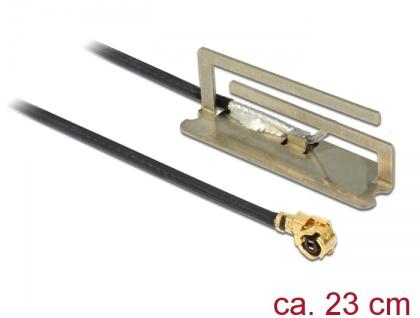 WLAN Antenne MHF/ U.FL-LP-068 802.11 kompatibler Stecker ac/a/h/b/g/n PIFA 1, 6 dBi 23 cm intern, Delock® [86388]