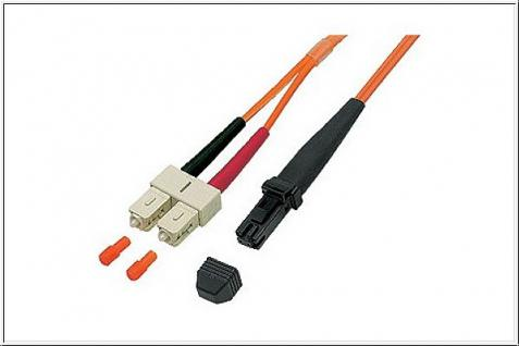 kabelmeister® Patchkabel LWL Duplex OM1 (Multimode, 62, 5/125) MT-RJ/SC, 15m
