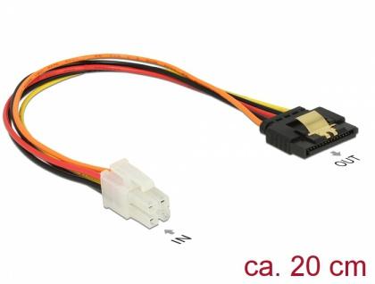 Kabel P4 4 Pin Stecker > SATA 15 Pin Buchse 20 cm, Delock® [85519]