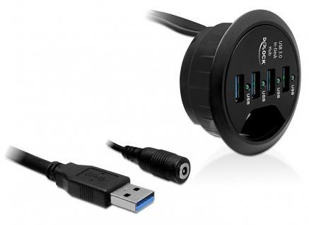 Tisch-Hub 4 Port USB 3.0, Delock ® [61989]