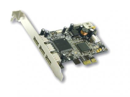 USB 2.0 PCI-Express Karte 3+1, NEC-Chipsatz, Exsys® [EX-11064]