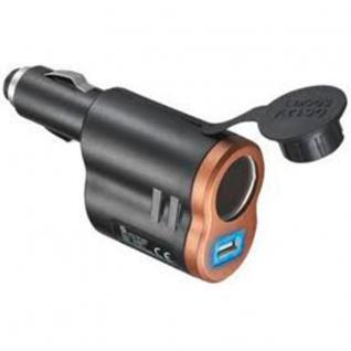 KFZ USB Poweradapter 2in1, USB Buchse + 12-24 V Buchse