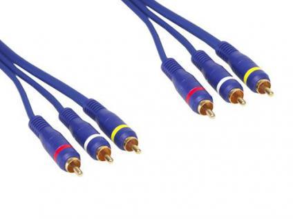 kabelmeister® Premium Video-Audio-Verbindung 3 X Cinch St / St. Länge: 1m