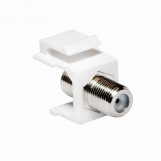 Keystone Verbinder F-Buchse an F-Buchse, 75 Ohm, LogiLink® [NK0018]