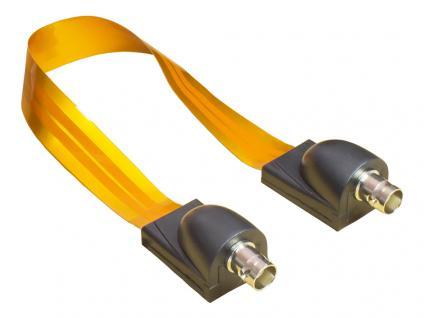 kabelmeister® BNC Fensterdurchführung High-Quality, transparent, Gesamtlänge inkl. Stecker 26cm, flexible Länge 17cm