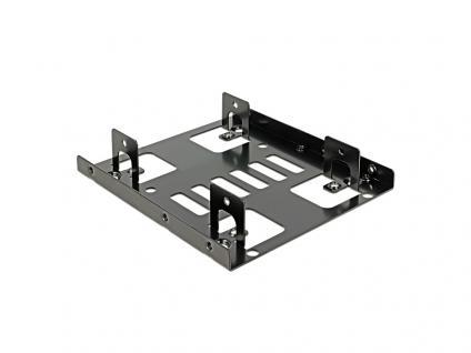 Festplatten Einbaurahmen, 2x 2, 5' HDD auf 3, 5', Metall, Delock® [18210]