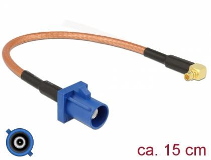 Antennenkabel FAKRA C Stecker an MMCX 90____deg; Stecker RG-316 15 cm, Delock® [89668]