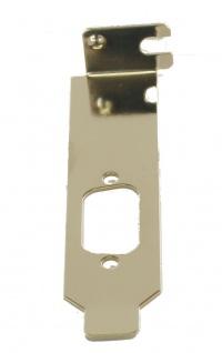 LowProfile Bracket für 9 Pin Stecker/Buchsen, Exsys® [EX-LP9PIN]