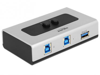 Umschalter USB 3.0 2-port, manuell bidirektional, Delock® [87667]