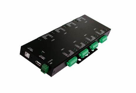 Hub, USB 2.0 zu 8S RS-232/422/485, in Metallgehäuse, Exsys® [EX-1339HMV]