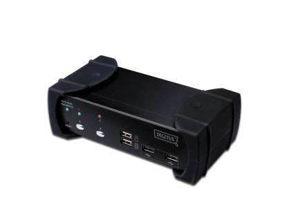 DVI-Audio-USB-KVM Switch, 2-Port, mit integriertem USB 2.0 Hub, Digitus® [DS-12820]