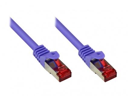 kabelmeister® Patchkabel, Cat. 6, S/FTP, PiMF, PVC, 250MHz, violett, 0, 5m