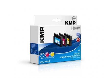 KMP Tintenpatrone ersetzt HP 951XL , für HP OfficeJet Pro 276 dw, gelb/cyan/magenta