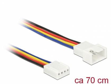 Verlängerungskabel PWM Lüfteranschluss 4 Pin, 0, 70 m, Delock® [85363]