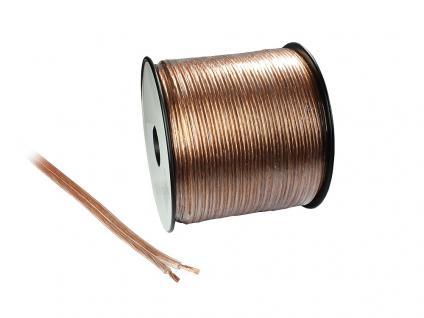 kabelmeister® Lautsprecherkabel 100m Spule, 2 x 1, 5mm², transparent