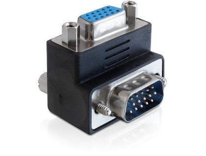 Adapter VGA Stecker an Buchse 270____deg; gewinkelt, Delock® [65247]
