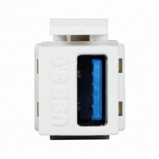 Keystone Modular Verbinder USB-A 3.0 Buchse an USB-A 3.0 Buchse, LogiLink® [NK0015]