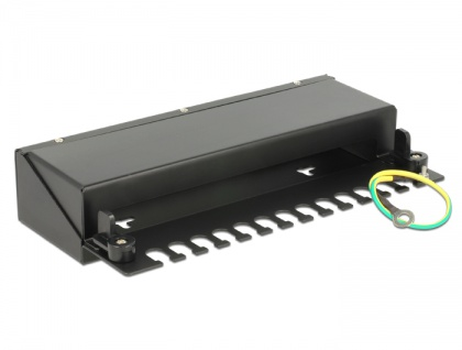 Keystone Desktop Patchpanel 12 Port schwarz, Delock® [43339]