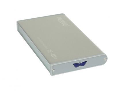Externes USB 2.0 Gehäuse für 2, 5' SATA + IDE Festplatten, silber