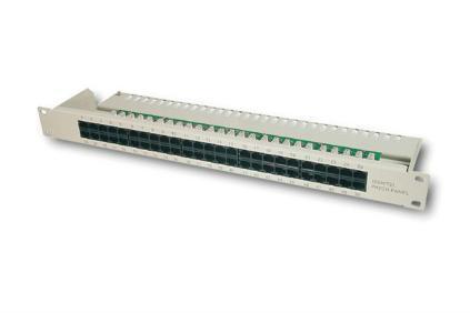 Digitus® Cat. 3 ISDN Patch Panel, 50 Port, ungeschirmt
