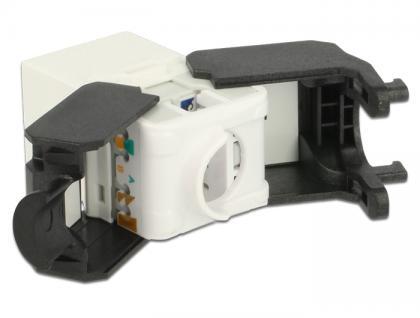 Keystone Modul RJ45 Buchse an LSA Cat.6A UTP weiß, Delock® [86266]