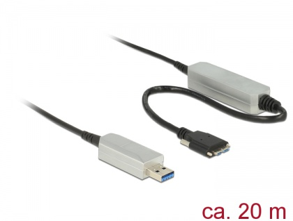 Aktives Optisches Kabel USB 3.0-A Stecker an USB 3.0 Micro-B Stecker, 0, 2 m, Delock® [83724]