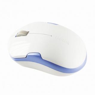 Kabellose optische 2.4 GHz Maus, 1200 dpi, Weiß/Blau, LogiLink® [ID0130]
