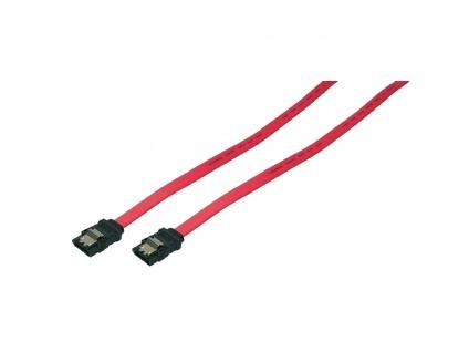 SATA 6 GBit/s Anschlusskabel mit Sicherungslasche, rot, 0, 3m, LogiLink® [CS0009]