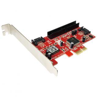 LogiLink® PCI Express Schnittstellenkarte S-ATA 2 x + ATA 1 x IDE [PC0003A]