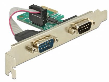 PCI Express Karte > 2 x Seriell RS-232, Delock® [89918]
