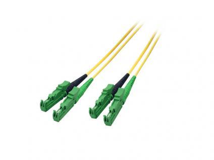 kabelmeister® Patchkabel LWL Duplex OS2 (Singlemode, 9/125) E2000®-APC, 20m