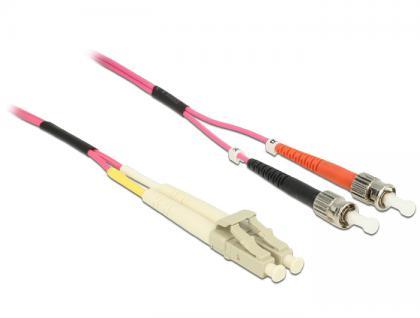 Kabel Lichtwellenleiter LC / ST Multimode OM4, 1m, Delock® [84685]
