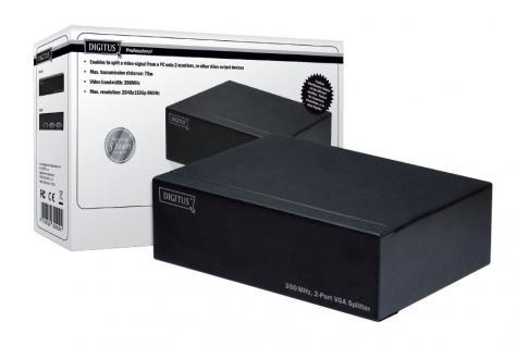 VGA Splitter 350MHz, 2-Port, Digitus® [DS-41100]