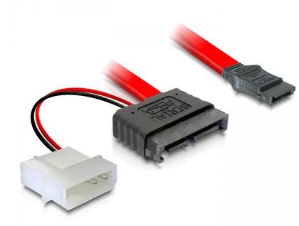 Kabel SATA Slimline Stecker + 2pin Power 5V an SATA, Delock® [84377]