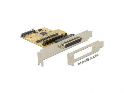 PCIe x1 Seriell 4x RS-232 mit Spannungsversorgung, Delock® [89447]