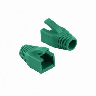Knickschutztülle 8, 0 mm für Cat.6 RJ45 Steckverbinder, grün, LogiLink® [MP0035G]