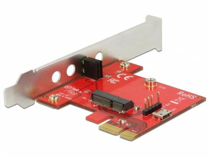 PCI Express Karte > 1 x intern M.2 Key E - Low Profile Formfaktor , Delock® [89889]