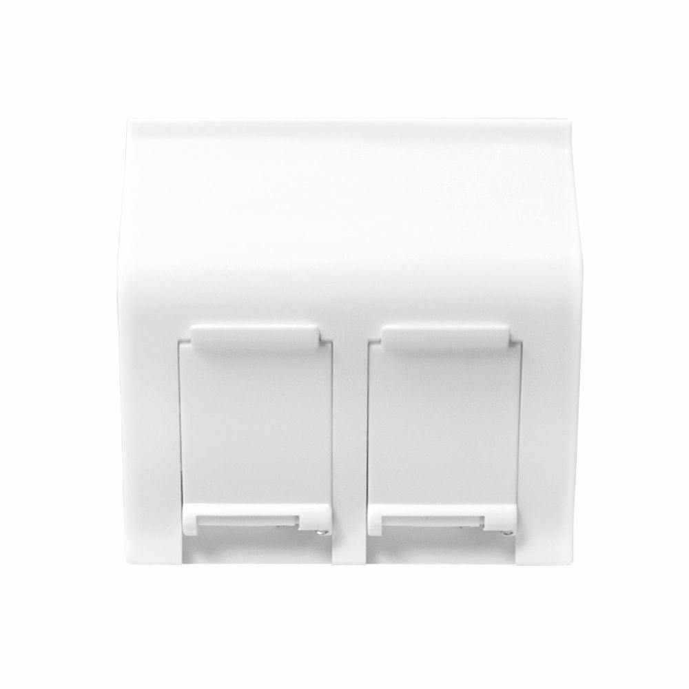unterputzdose für 2 keystone module, 45 x 45 mm, franz. system