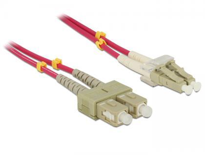 Kabel Lichtwellenleiter LC / SC Multimode OM4, 3m, Delock® [84682]