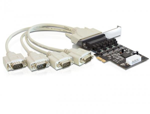 Schnittstellenkarte PCI Express an 4 x Seriell mit Power Management, Delock® [89306]